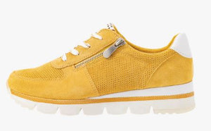 MARCO TOZZI WOMENS LACE UP TRAINER- SUN YELLOW
