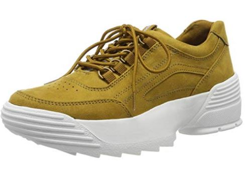 MARCO TOZZI WOMEN'S LOW-TOP TRAINER- MUSTARD