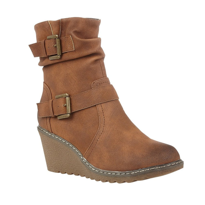 LOTUS WOMENS' PHOEBE ANKLE BOOT - TAN