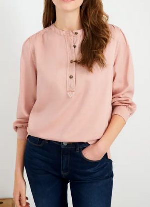WHITE STUFF WOMENS BETTY SHIRT - Mid Pink