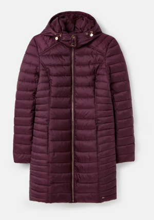 JOULES WOMENS CANTERBURY LUXE PADDED JACKET - PLUM