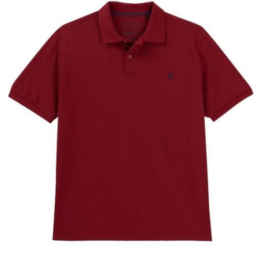JOULES MENS WOODY POLO SHIRT - DEEP RED