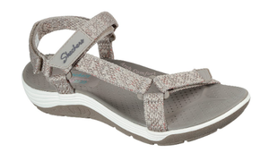 SKECHERS SANDALS REGGAE CUP – MY BESTIE in taupe