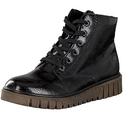 RIEKER LADIES Y3441-00 LACE UP BOOT