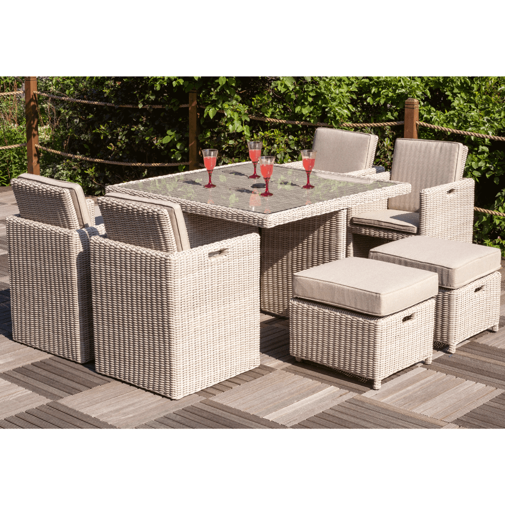 Seychelles Garden Table and Chairs Cube Set