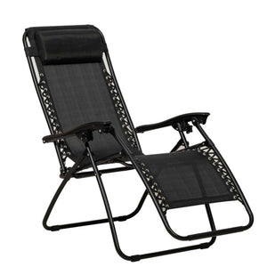 Royalcraft Zero Gravity Black Relaxer Chair With Cup & Phone Holder (2 CHAIR SPECIAL OFFER)
