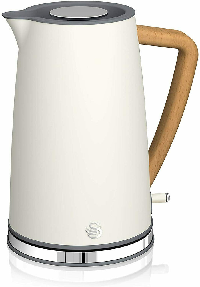 Swan SK14610WHTN Nordic 1.7L Jug Kettle 3000W Matt Finish Cotton White
