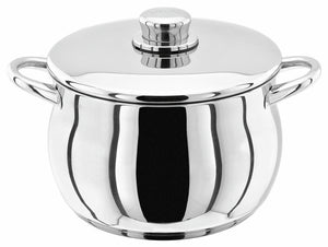 STELLAR 1000 Premium Stainless Steel Stockpot 22cm Deep Casserole Pan and Lid 22cm S144