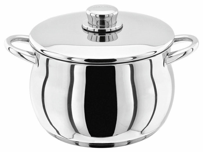 STELLAR 1000 Premium Stainless Steel Stockpot 22cm Casserole Pan and Lid 22cm S144
