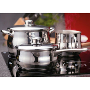 Stellar 1000 9 Piece Stainless Steel Saucepan Set S1F2 Induction Safe