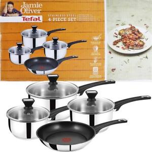 Tefal Jamie Oliver 4 Piece Saucepan Set Induction B125SA44