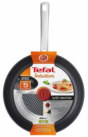 Tefal Intuition Frying Pan Non Stick Cooking 28cm Stainless Steel