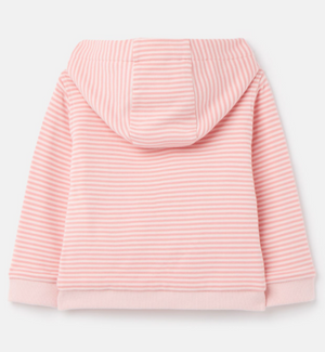 JOULES GIRLS' TENLEY CHARATCER ZIP SWEAT - PINK SHEEP