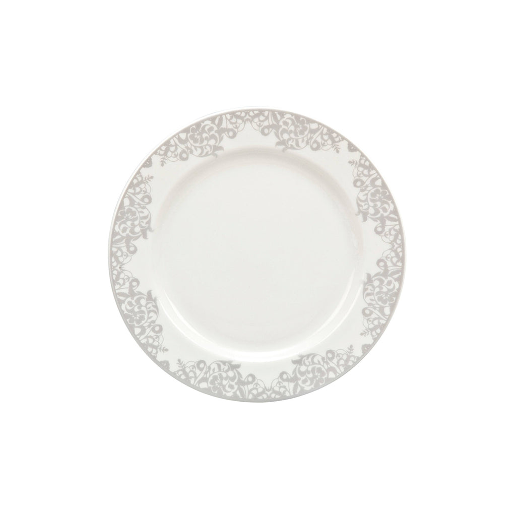 Denby Monsoon Filigree Silver Dinner Plate
