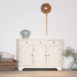 Fayence sideboard cream 3 drawer