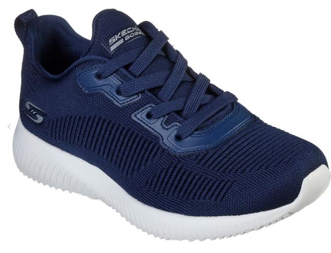 SKECHERS WOMENS BOBS SQUAD TOUGH TALK - NAVY
