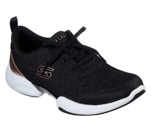 SKECHERS  WOMEN'S SKECH LAB SNAZZY SPIRIT TRAINER BLACK/ROSE GOLD
