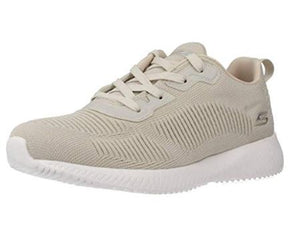 SKECHERS WOMENS BOBS SPORT SQUAD-TOUGH TALK TRAINER- NATURAL