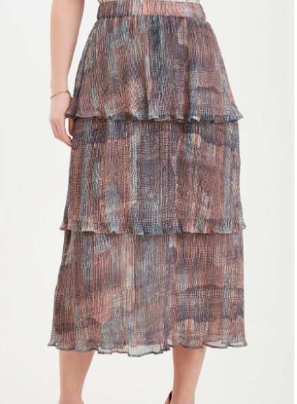 DRANELLA WOMENS DRJESS SKIRT- MULTI COLOURED PRINT