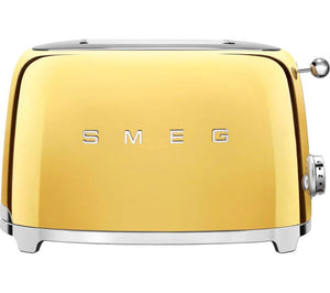 Smeg Retro Style Gold Two Slice Toaster