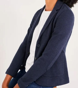 WHITE STUFF WOMENS SOHO JERSEY BLAZER - DARK NAVY