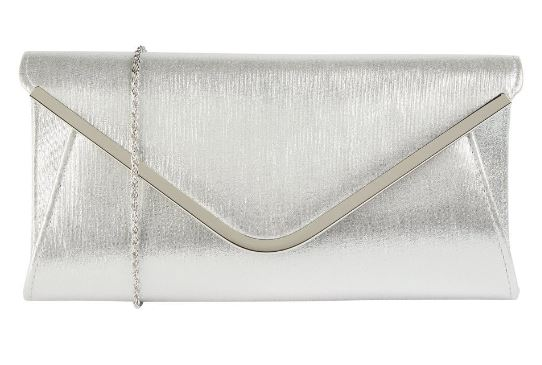 LOTUS SOMMERTON CLUTCH BAG- SHINY SILVER