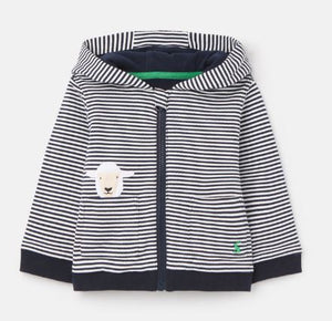 JOULES BABY BOYS TENLEY ARTWORK HOODIE - NAVY SHEEP