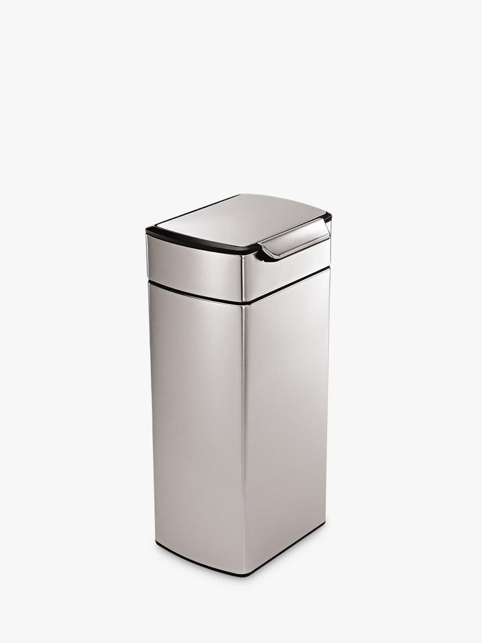 Simplehuman CW2015 Rectangular Touch Bar Bin 30L- Brushed Steel