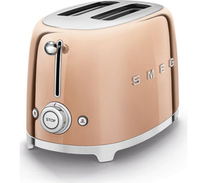 Smeg Retro Style Rose Gold Two Slice Toaster