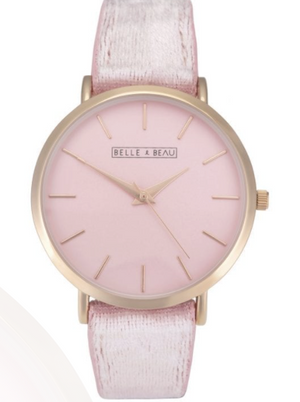 BELLE & BEAU VELVET CRUSH WATCH - VINTAGE ROSE
