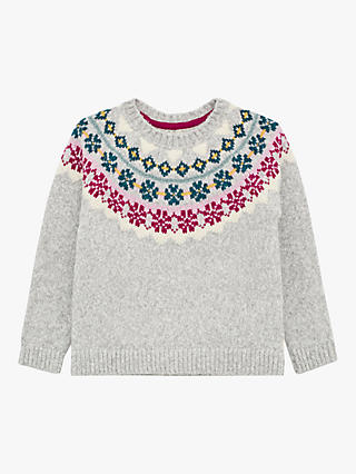 WHITE STUFF GIRLS' WINTER FROST JUMPER - LIGHT GREY