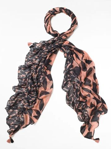 WHITE STUFF WOMENS MARGOT PRINTED MODAL SCARF- NUDE