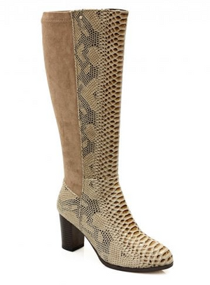 ZANNI & CO. LADIES AKROUM BELOW KNEE BOOT - SAND GLOSS