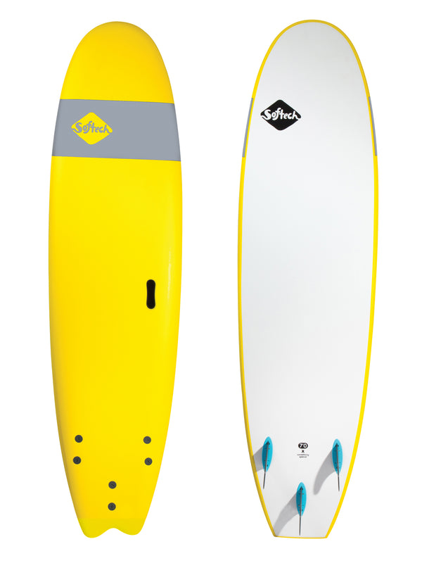 Softech Handshaped Surfboard Yellow