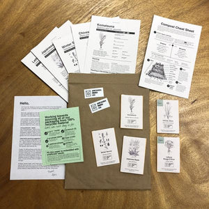 Arcadia Seed Co - 4 month prepaid subscription - 5 seed packets + instructions