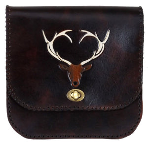 Belt Pouch with Stag Design