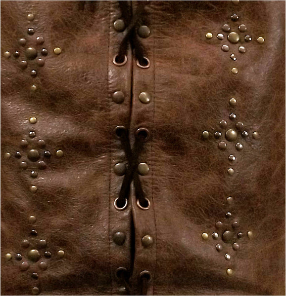 Studded Leather Jerkin - Choose Colour