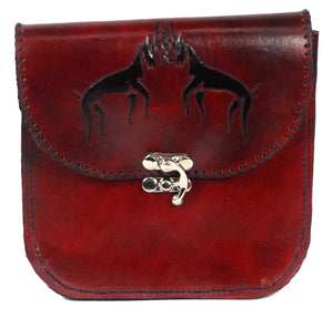 Belt Pouch with Viking Stags Design
