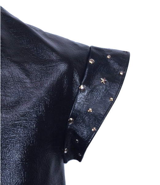 Leather Jerkin with Silver Stars - Choose Colour