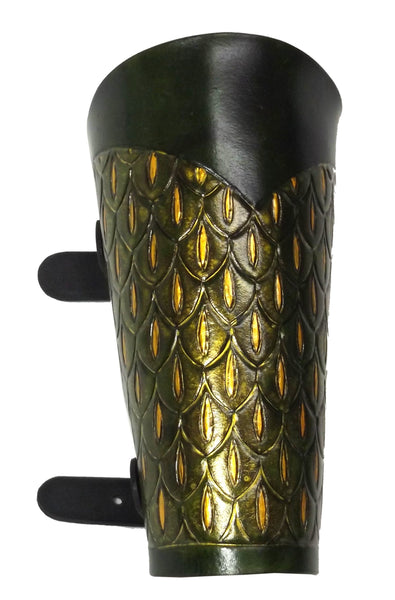 Dragonscale Leather Vambrace - LARP Armour