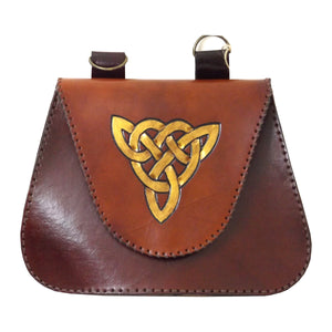Belt Pouch with Celtic Knot Design