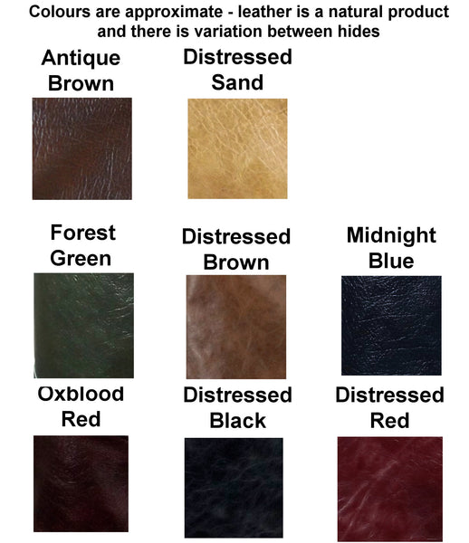 Long Buckled Leather Jerkin - Choose Colour