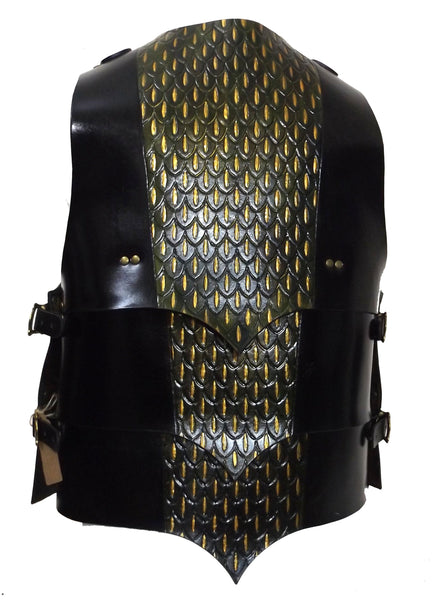 Dragonscale Leather Chest Armour - Choose Colour and Size