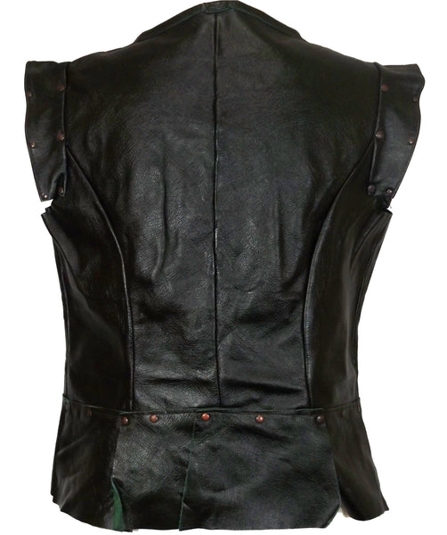 Ladies Cut Leather Jerkin - Choose Colour and Size