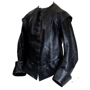 Italian Leather Jerkin Long Sleeved Choose Colours Fantasy Medieval Doublet