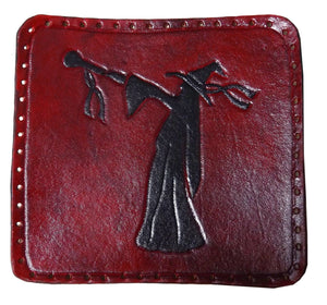 Hand Carved Leather Wizard Patch - 9*9cm - Made to Order Choose Colour