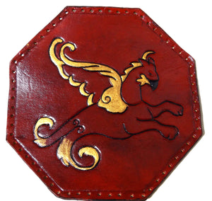 Hand Carved Leather Griffin Patch - 11*11cm - Made to Order Choose Colour