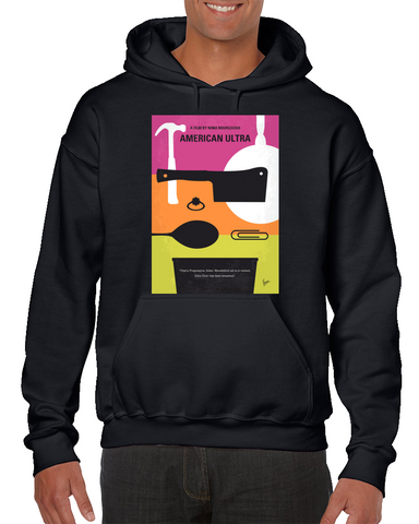 American Ultra Minimal Movie Poster Hoodie