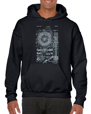 - Dart Board - Inventor Tempest Patent Hoodie