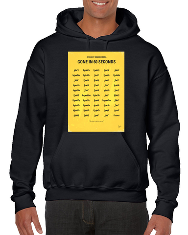 Gone In 60 Seconds Minimal Movie Poster Hoodie